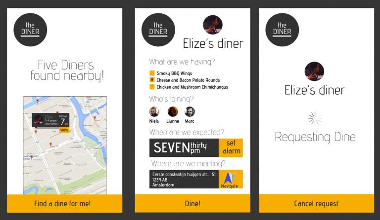 Diner - Mobile app mockup